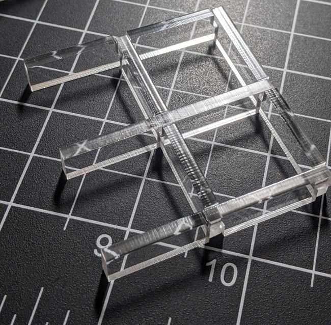 Laser Cut interlocking orthogrid